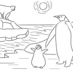 free printable emperor penguin coloring pages