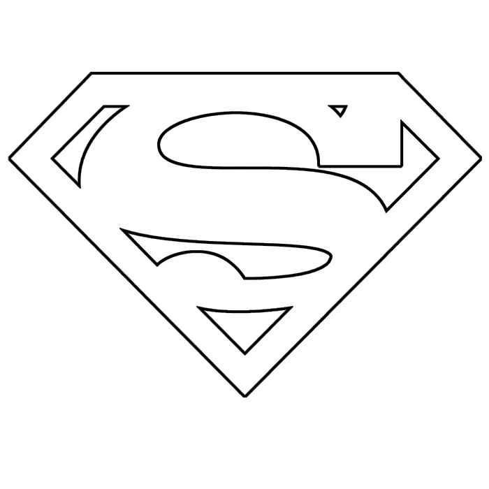 superman logo coloring page superman logo coloring pages