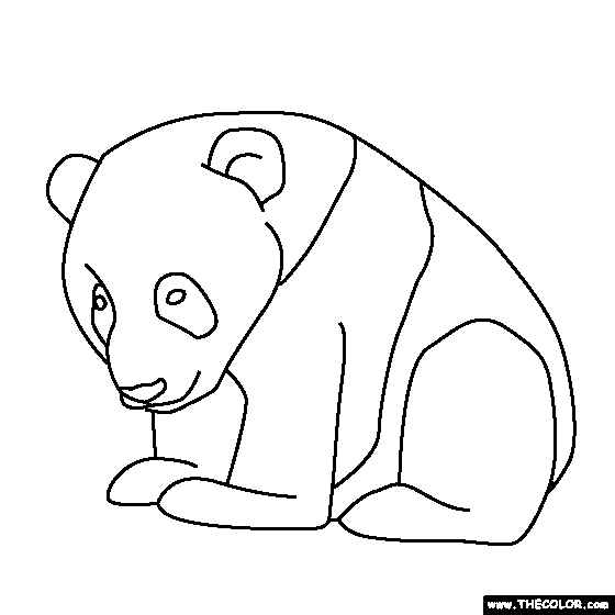 Simple printable baby panda coloring pages for Coloring pages panda