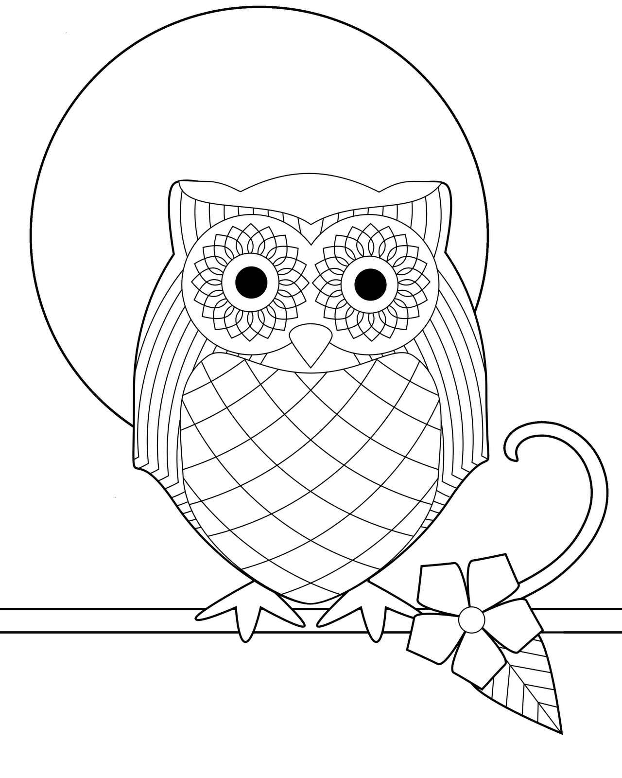 printable coloring pages of an owl