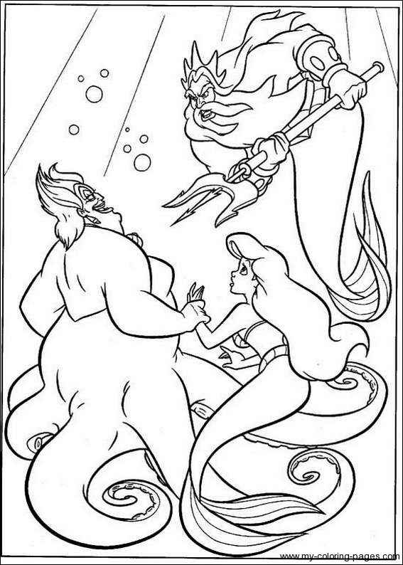 little mermaid coloring pages ursula
