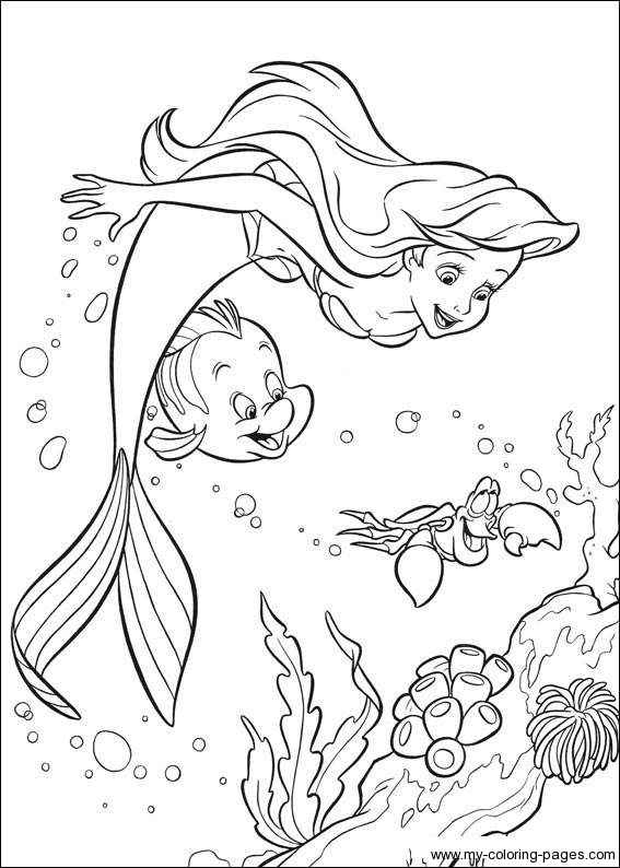 flounder little mermaid coloring pages - Mermaid Coloring Pages For Kids