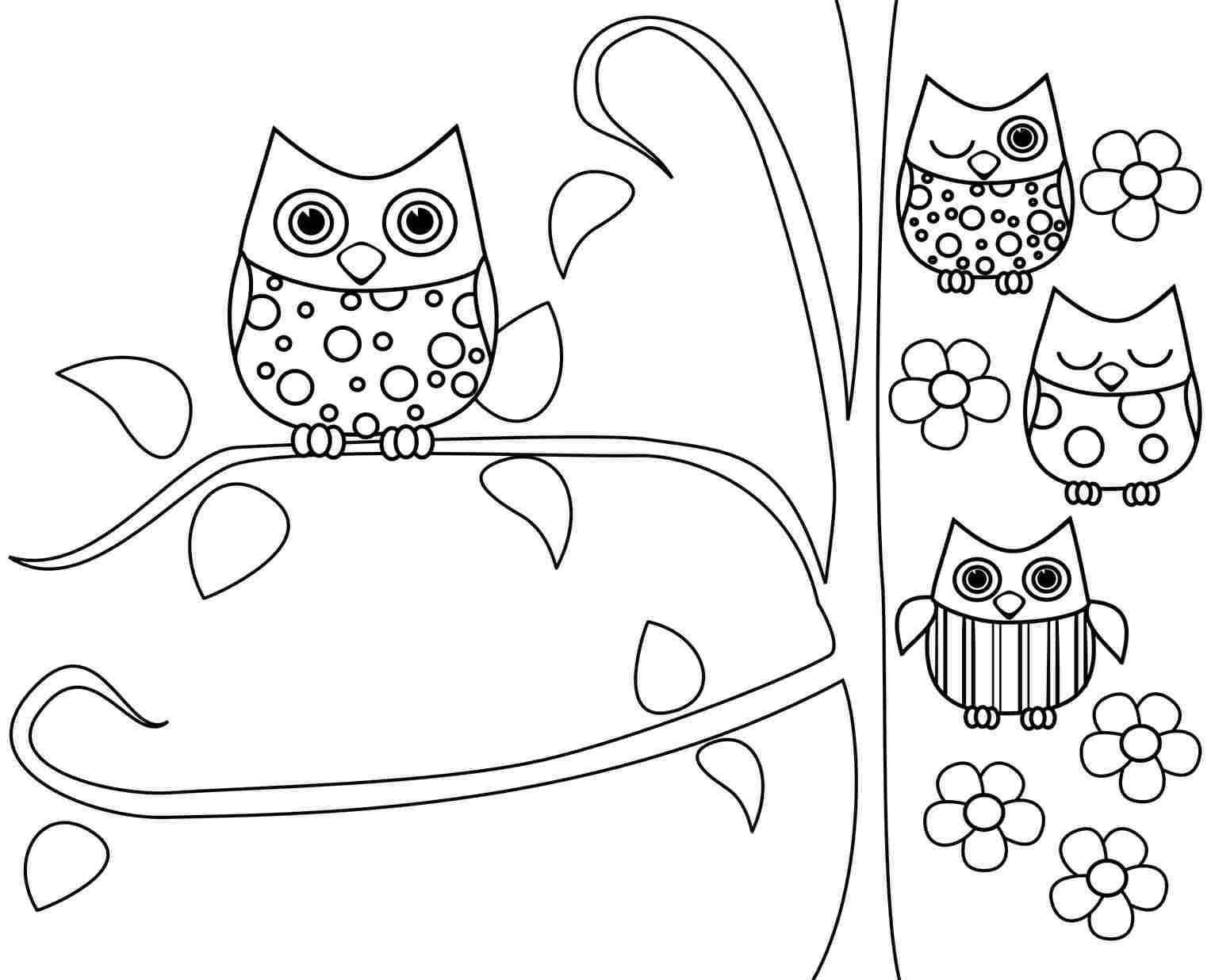 Owl coloring pages free printable for Printable owl coloring pages