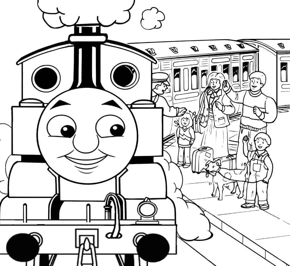 Free Train Thomas Henry Coloring Pages