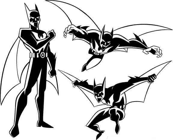 batman -beyond coloring pages for preschoolers