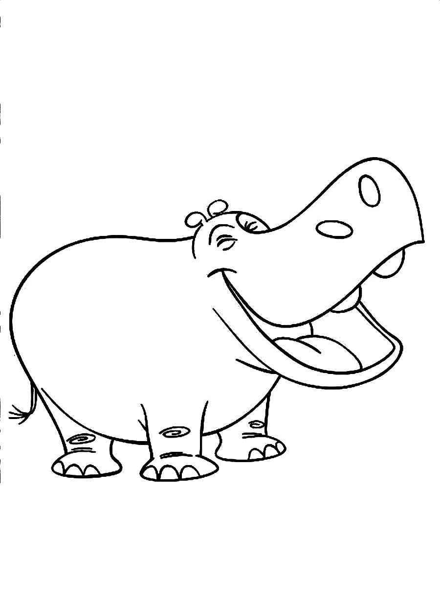 hippopotamus coloring page for kids - Coloring Pages For Toddlers