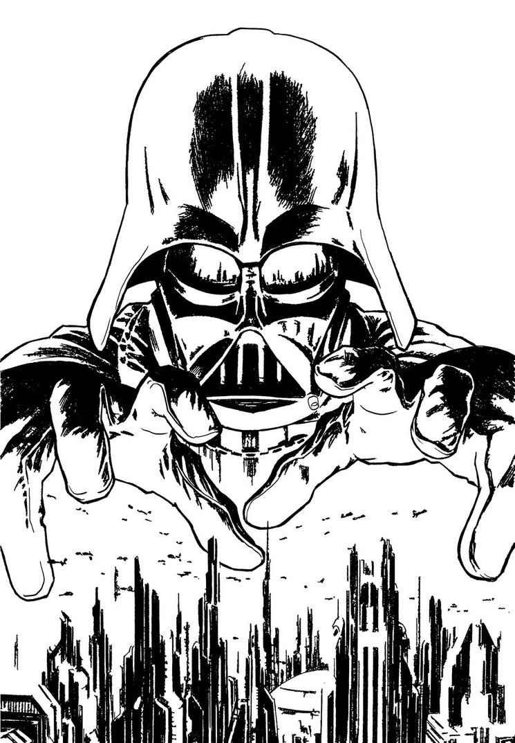 darth vader coloring pages printable