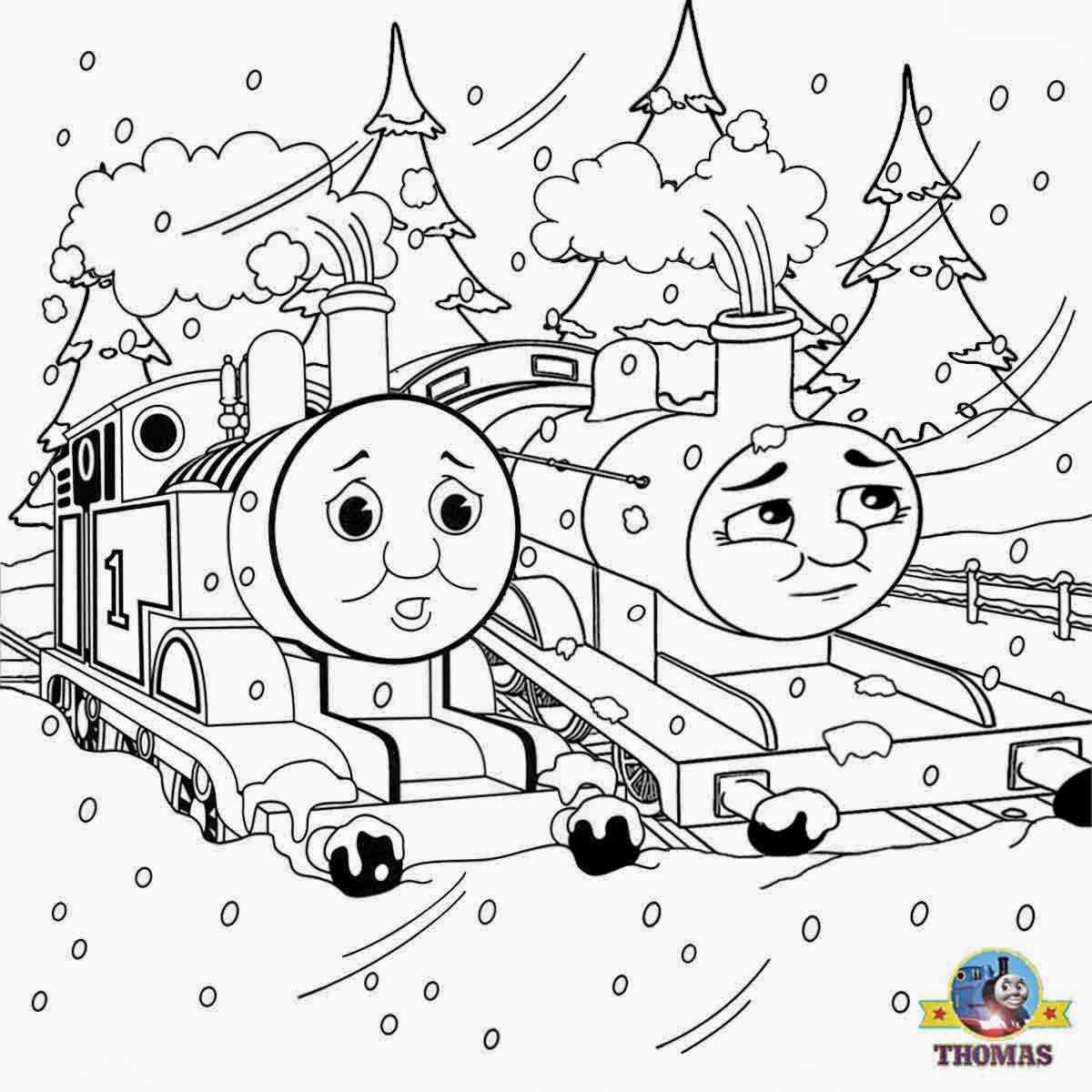 thomas the train coloring pages printable for free