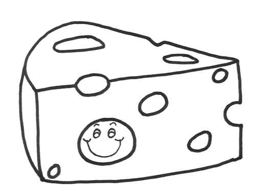 cheese slices coloring sheet coloring pages