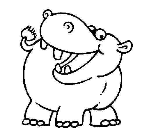 hippo coloring pages online