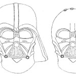 darth vader coloring page mask
