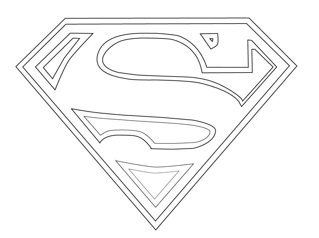 superman symbol coloring pages for kids
