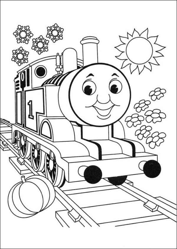 thomas the train coloring pages christmas free printable