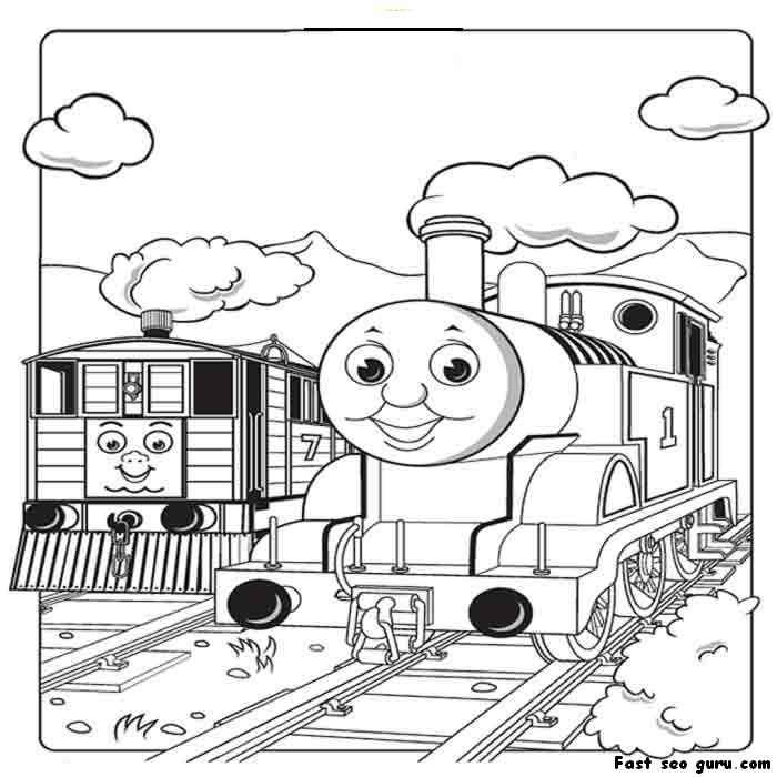 thomas the train coloring pages printable for girls and boys