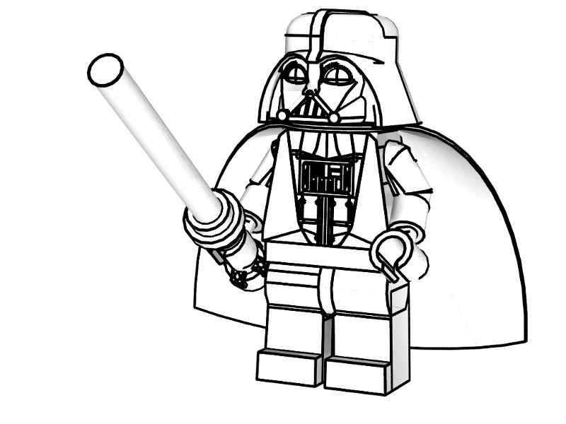 lego darth vader coloring pages free