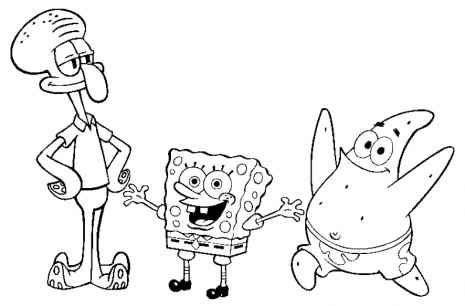 free downloadable spongebob coloring pages