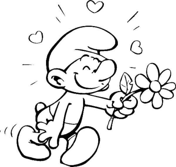 smurf coloring pages from the movie picture