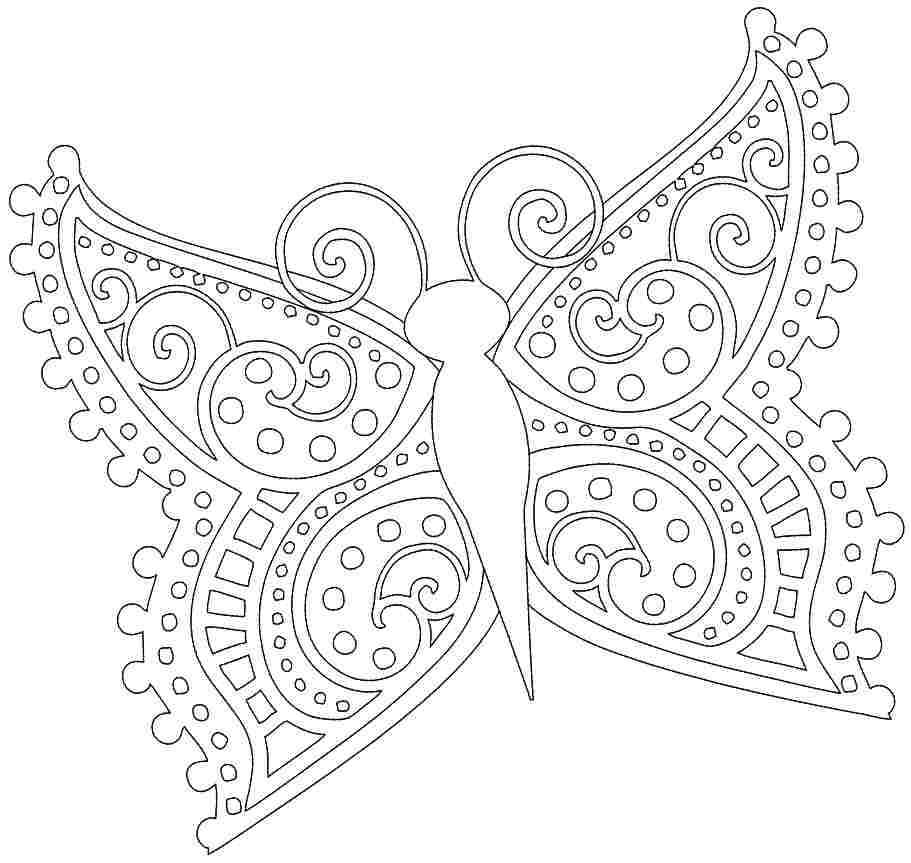 free printable coloring sheets of butterflies