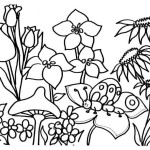 printable coloring pages of flowers and butterflies
