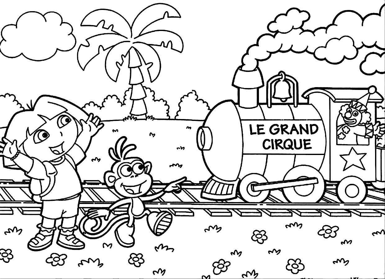 Dora the explorer printable coloring pictures for Dora the explorer coloring page