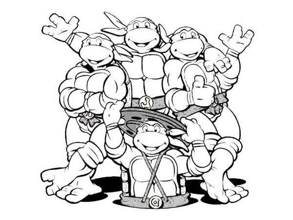 teenage mutant ninja turtles coloring sheets for nickelodeon