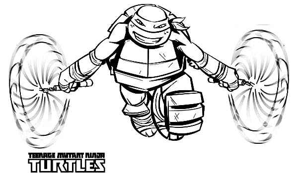Teenage mutant ninja turtles michelangelo coloring pages for Teenage mutant ninja coloring pages