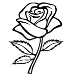 simple flower printable coloring pages