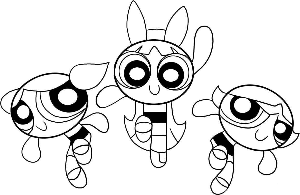 girl power puff girl superhero coloring pages