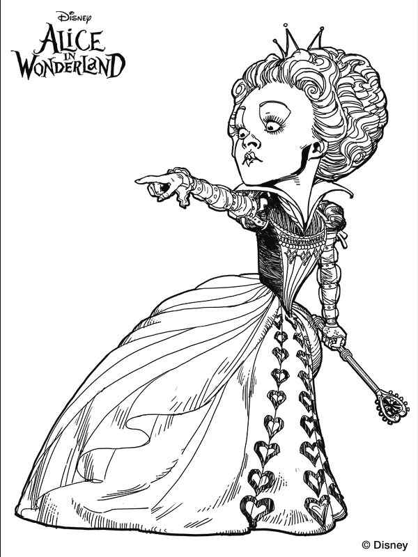 alice in wonderland coloring pages disney