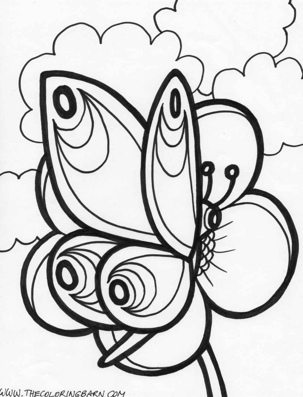 Free printable butterfly coloring pages for adults for Coloring pages of butterflies for adults