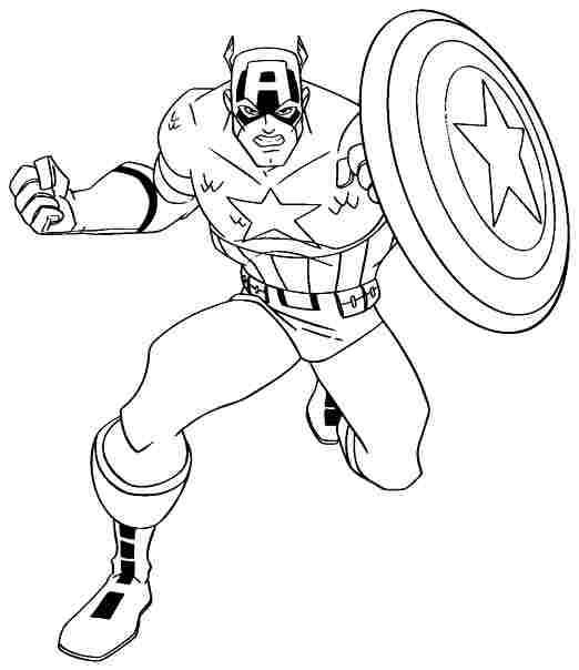 captain america coloring pages free to print