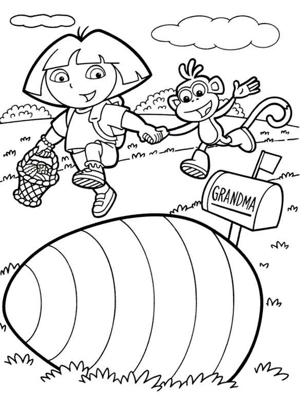 Dora the explorer print out coloring pages for Dora the explorer coloring pages printable