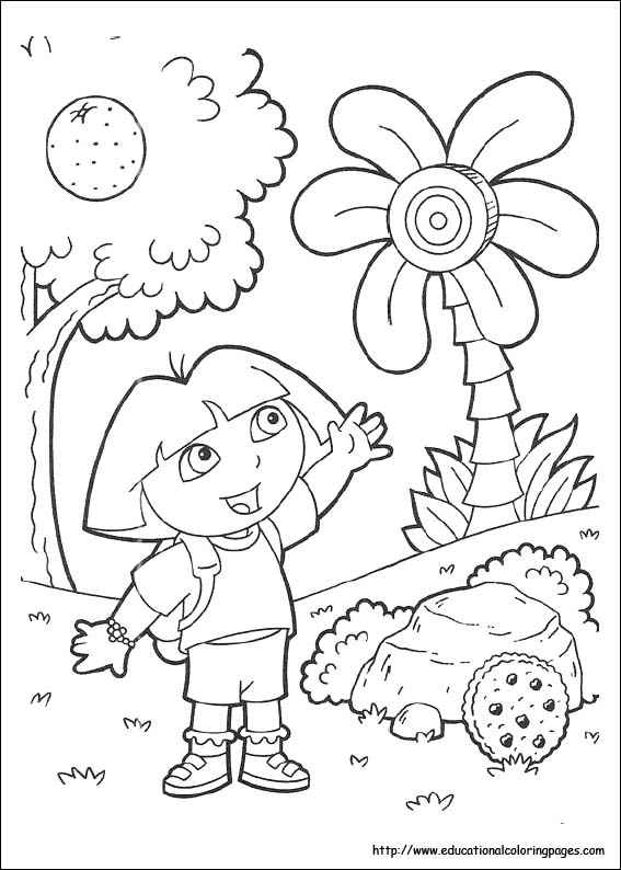 dora the explorer coloring pages free to print