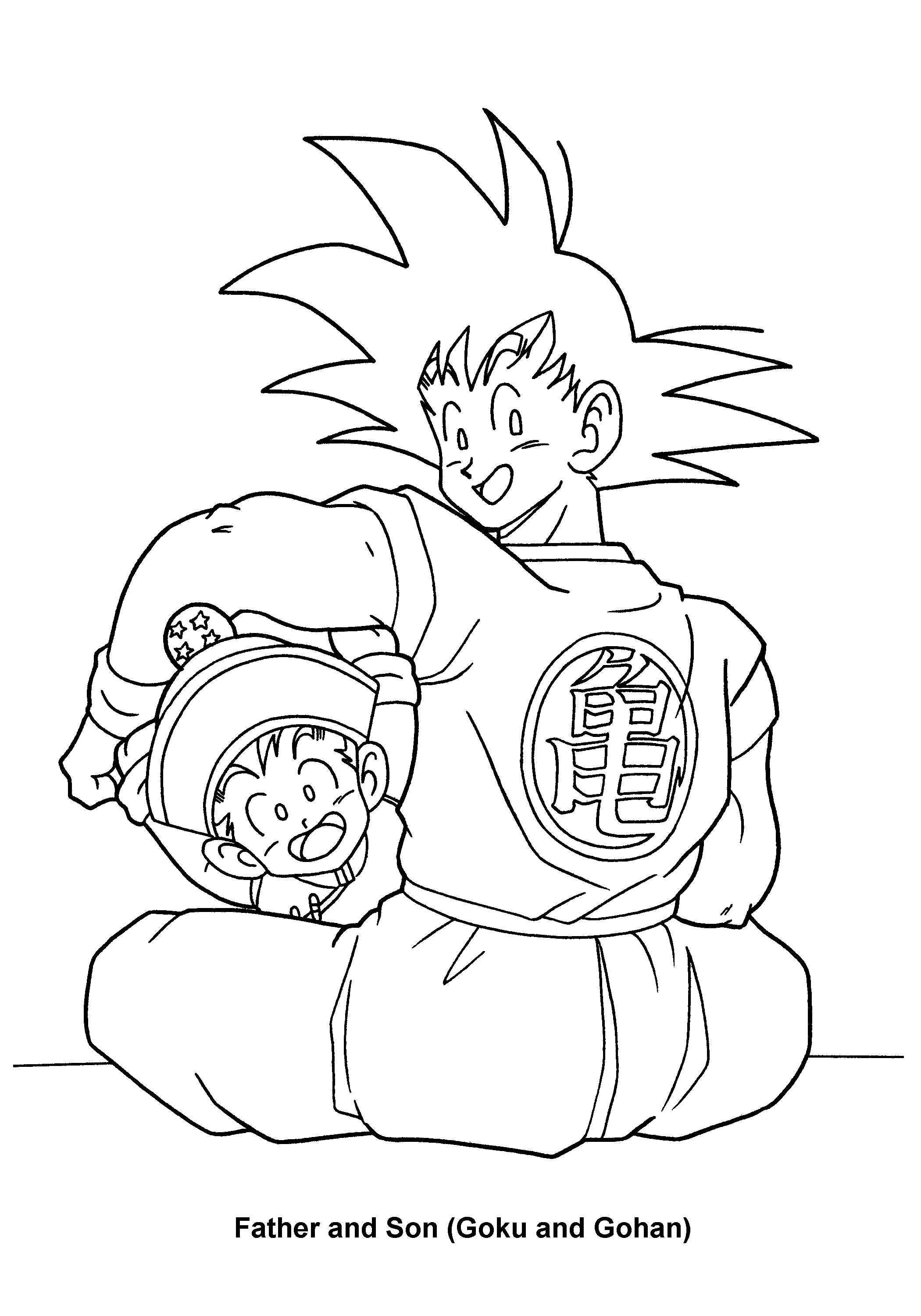 Dragon Ball Z Coloring Pages Printable