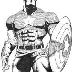 free coloring pictures of captain america