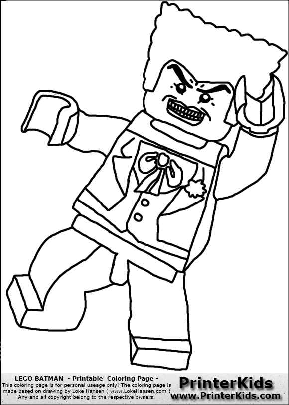 lego batman joker coloring pages
