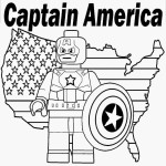 lego captain america colouring pages