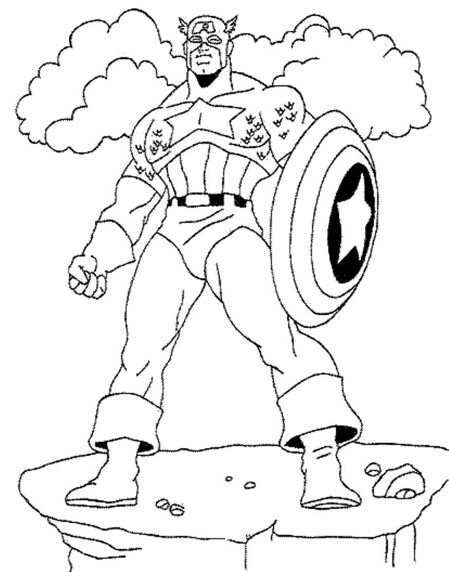 real captain america coloring pages
