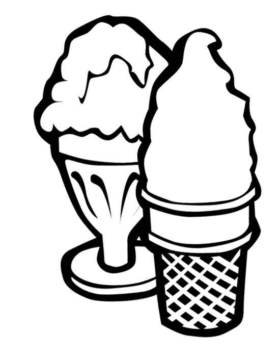 ice cream cone colouring sheets