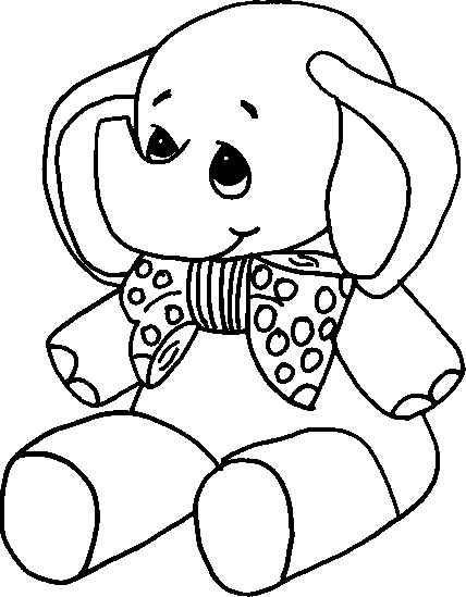 baby elephant coloring sheet