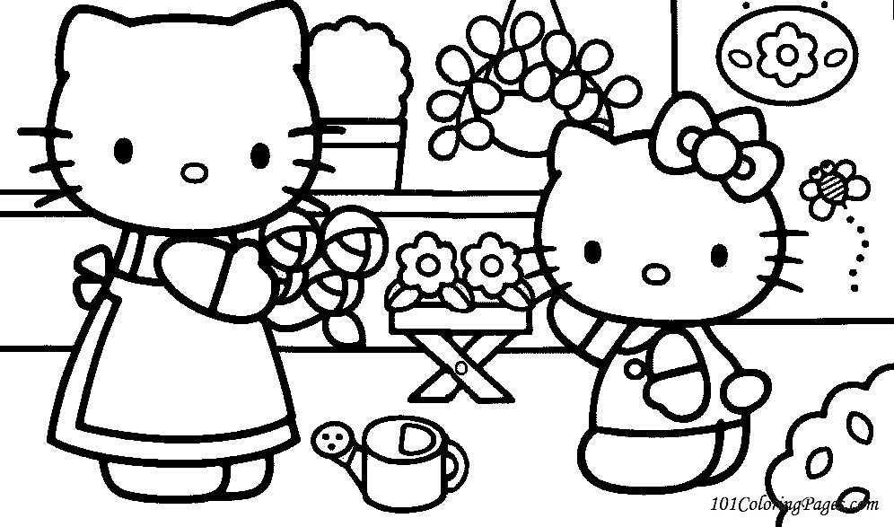 hello kitty coloring pages to color online free