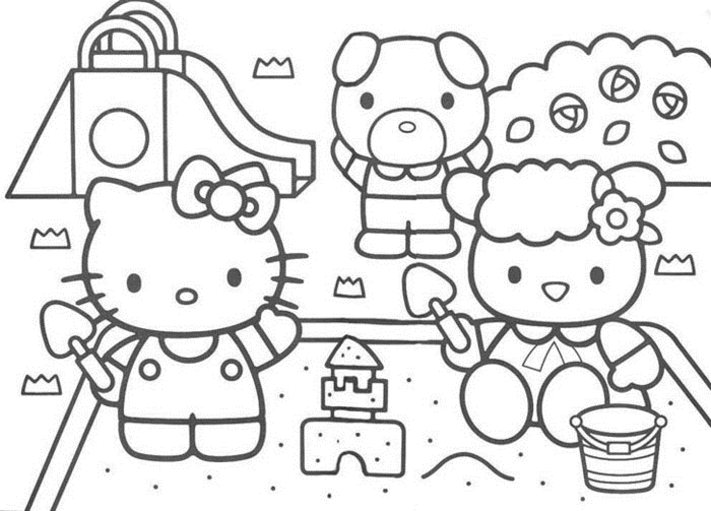 hello kitty and friends coloring pages