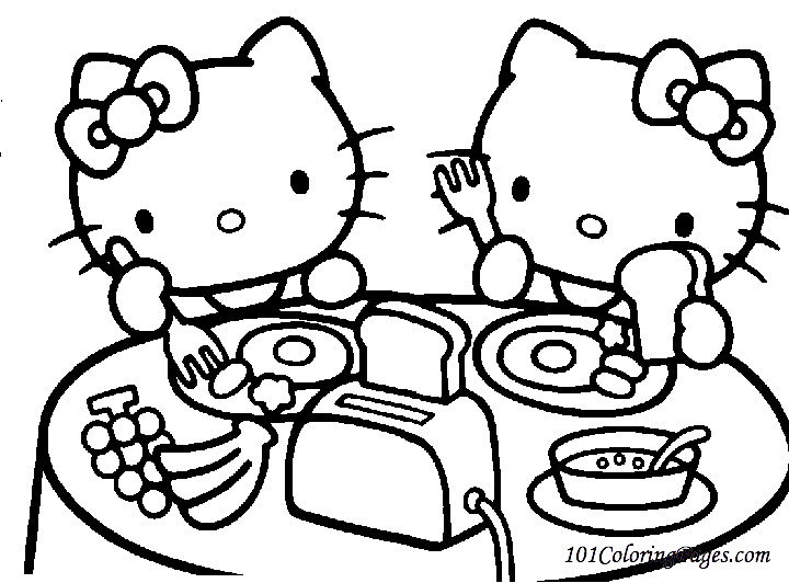 Hello Kitty Coloring Pages for Girls Kids