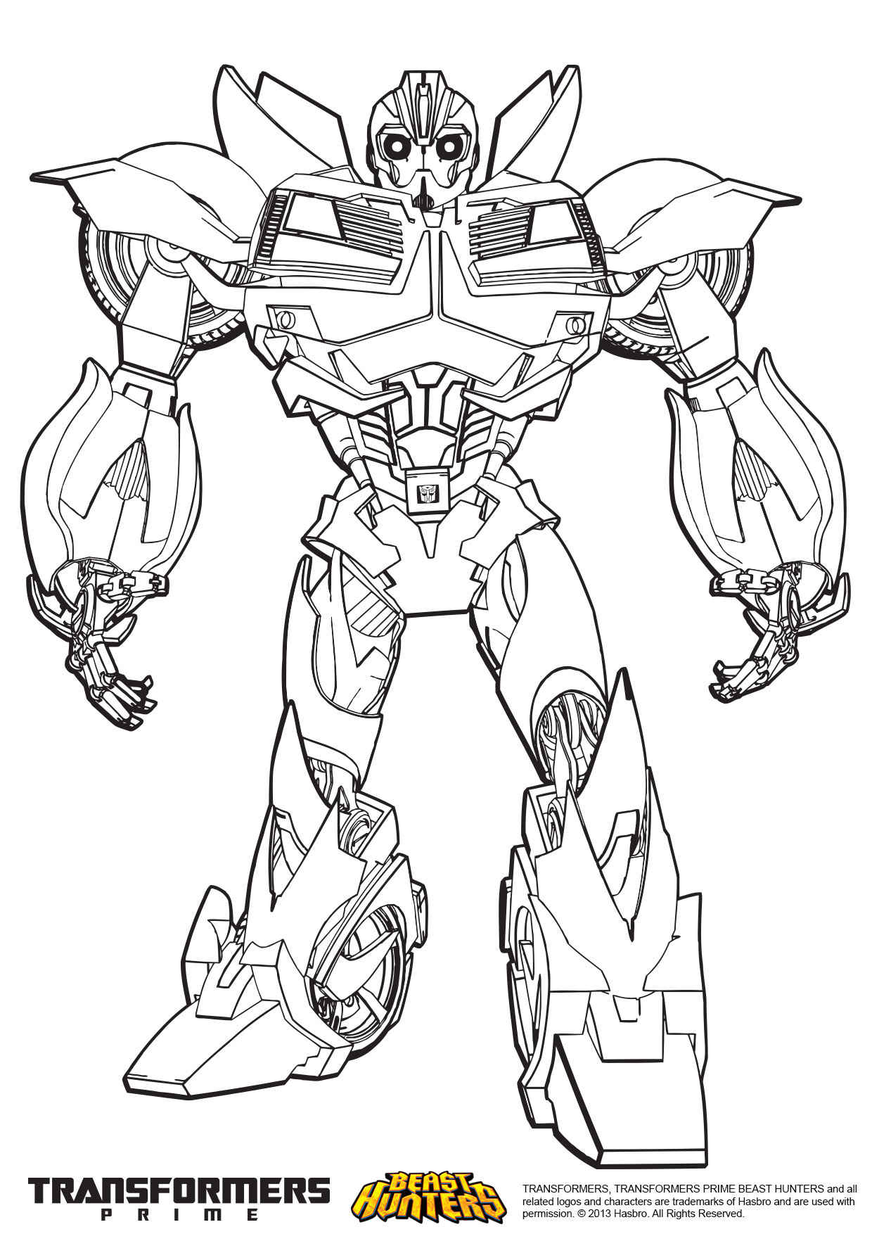 transformer bumblebee coloring pages - photo#1