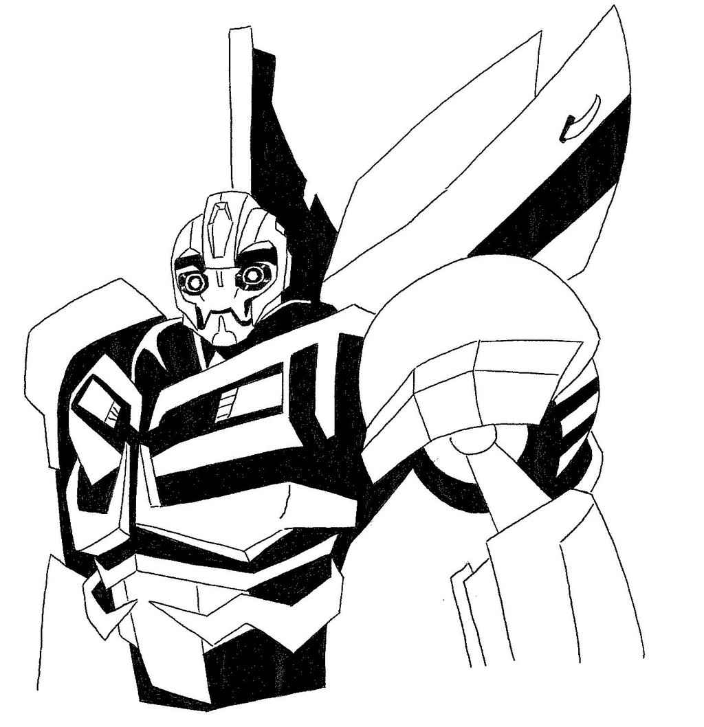 Transformers Animated Bumblebee Coloring Pages