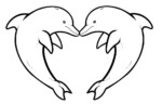 Learn Social Bonds By Dolphins Coloring Pages