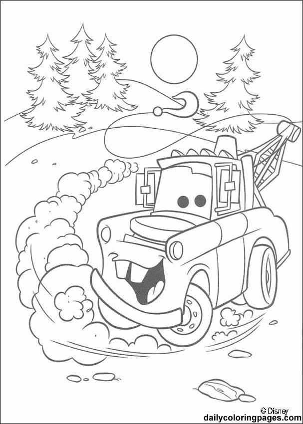 Free Cars Movie Disney Coloring Pages For Boys