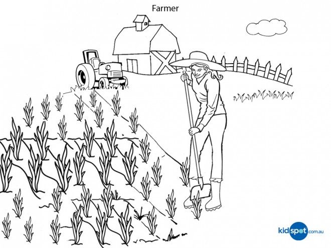 Farmer Coloring Pages Entrancing Fun Farmer Coloring Pages Learning  Coloring Pages Inspiration