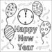 New Year's Day Coloring Pages