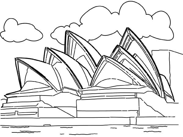Opera House Sidney Australia Coloring Pages Landmark Edition